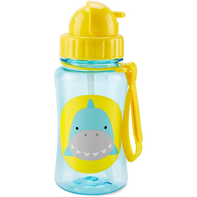 Alternate image 1 for SKIP*HOP® Zoo 12 oz. Shark Straw Bottle