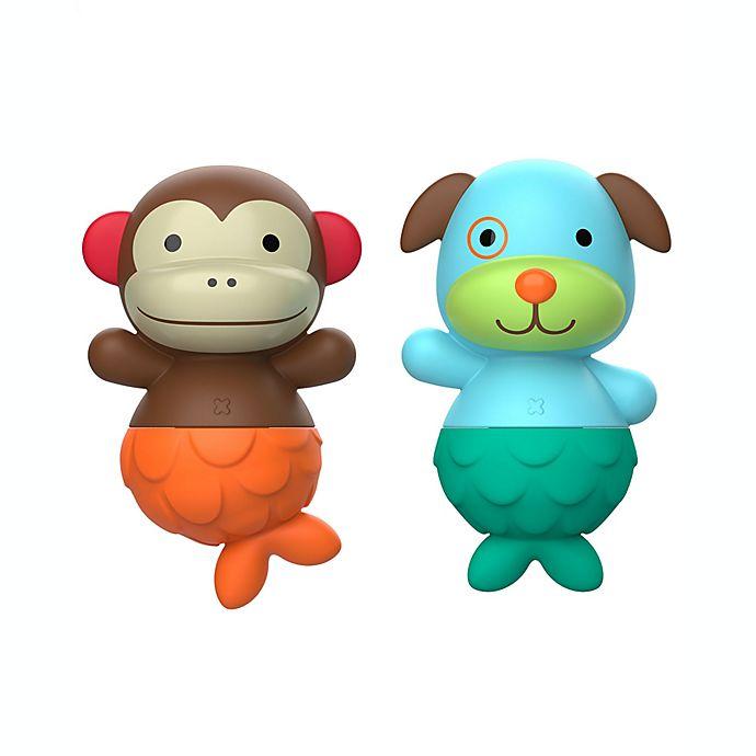 Alternate image 1 for SKIP*HOP® Zoo® Bath Mix & Match Flippers Monkey/Dog
