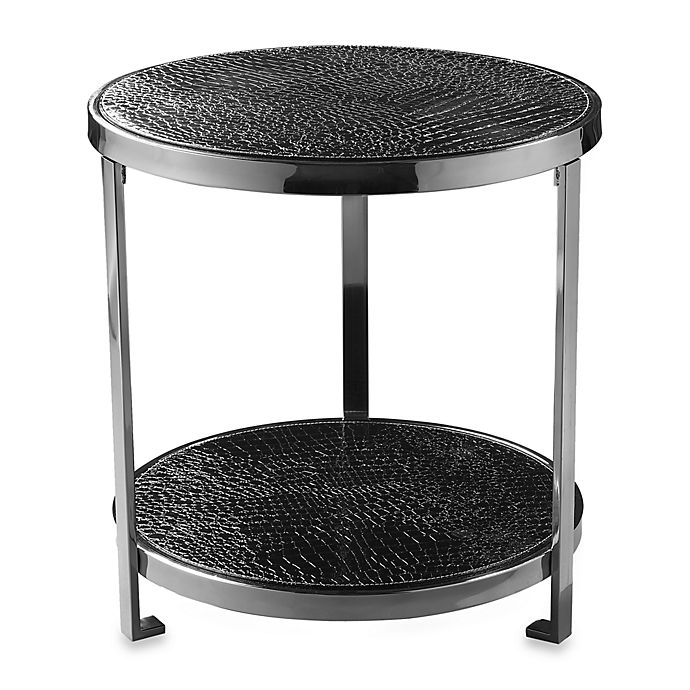 Buy Black Crock Two-Tiered Round Coffee Table From Bed
