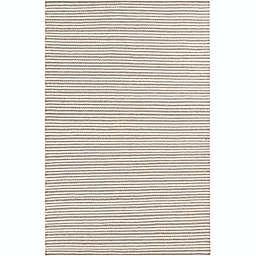 Surya Ravena Striped Rug in Cream/Camel
