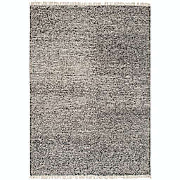 Surya Rex Solids and Tonals 10' x 14' Handcrafted Area Rug in Black