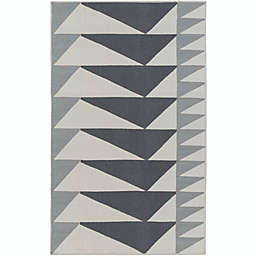 Surya Renata 5' x 7'6 Area Rug in Charcoal/Light Grey