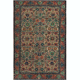 Surya Shadi Global 8' x 10' Area Rug in Khaki/Rose