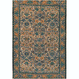 Surya Shadi Global 5' x 7'6 Area Rug in Khaki/Teal