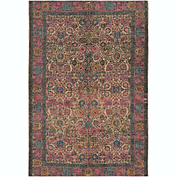 Surya Shadi Global 2' x 3' Accent Rug in Khaki/Bright Pink