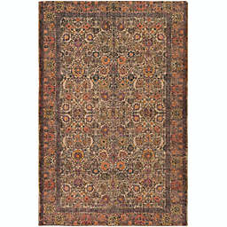 Surya Shadi Global 2' x 3' Accemt Rug in Khaki/Orange