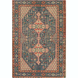 Surya Shadi Global Geometric 2' x3' Accent Rug in Khaki/Dark Blue