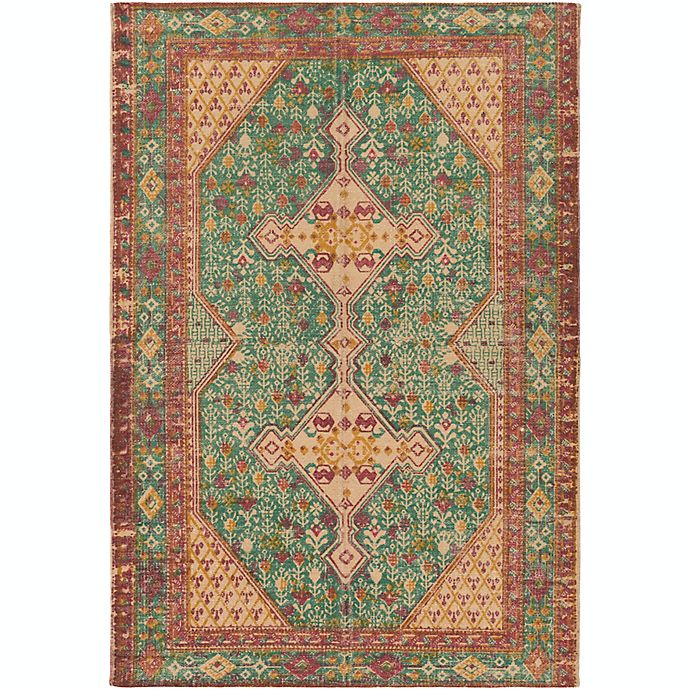 Alternate image 1 for Surya Shadi Global Hand-Woven Area Rug in Teal/Khaki