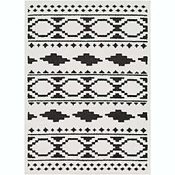 Surya Moroccan Shag Rug in Black/White
