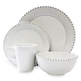 American Atelier Bianca Bead 16-Piece Round Dinnerware Set
