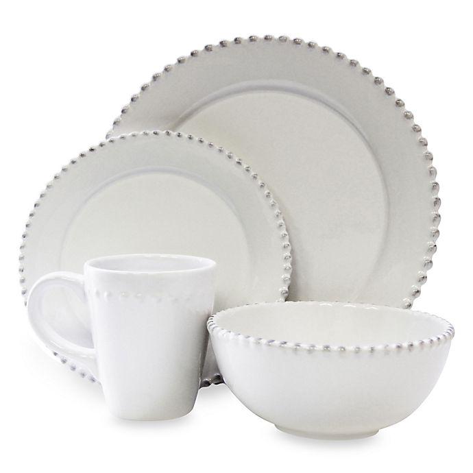 Alternate image 1 for American Atelier Bianca Bead 16-Piece Round Dinnerware Set