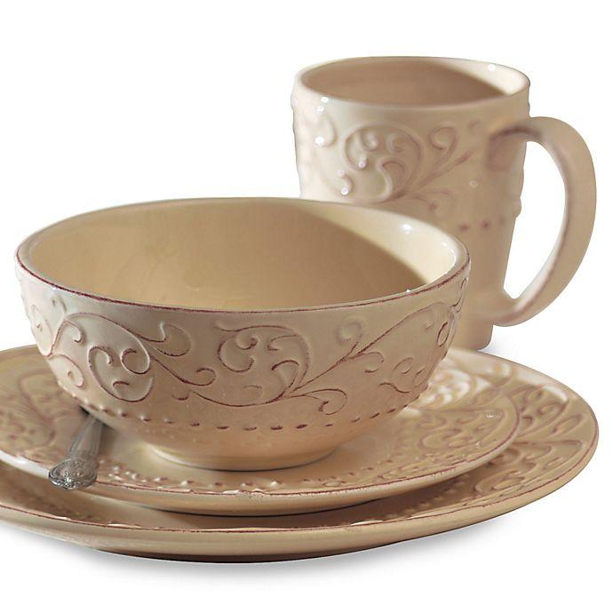 Alternate image 1 for American Atelier 16-Piece Bianca Cream Dinnerware Set