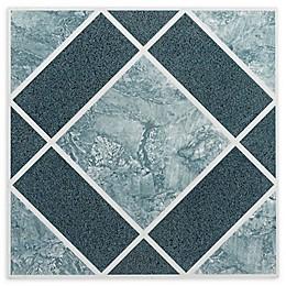 Achim Nexus 20-Pack 12-Inch Clay Diamond Floor Tiles in Blue