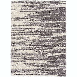 Surya Winfield 7'10 x 10'2 Shag Area Rug in Medium Grey
