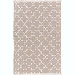 Surya Isle 5' x 7'6 Area Rug in Khaki/Cream