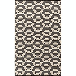 Surya Rivington Hand-Woven Area Rug in Charcoal