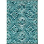 Surya Amsterdam Southwest 2' x 3' Accent Rug in Aqua/Teal