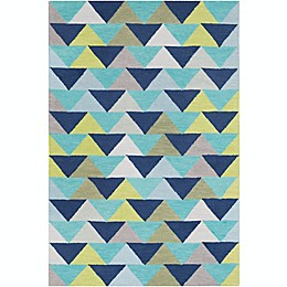 Surya Technicolor Geometric Area Rug in Denim