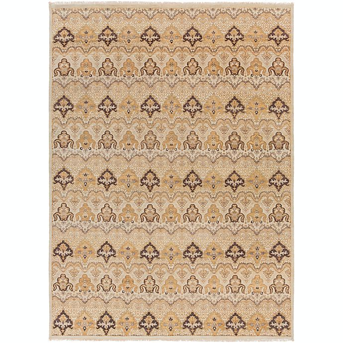 Alternate image 1 for Surya Cambridge Medallion 8'6 x 11'6 Hand Knotted Area Rug in Ivory/Tan