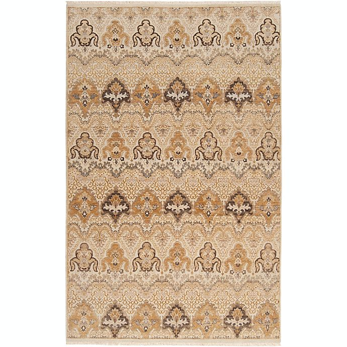 Alternate image 1 for Surya Cambridge Medallion 9' x 13' Hand Knotted Area Rug in Ivory/Tan