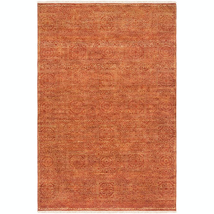 Alternate image 1 for Surya Empress Classic Absract Floral 9' x 13' Hand-Knotted Area Rug in Burnt Orange