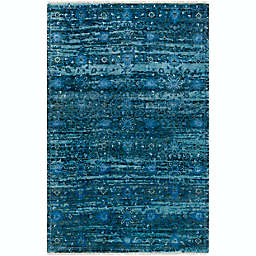 Surya Empress Classic Floral Hand-Knotted Rug in Denim/Charcoal