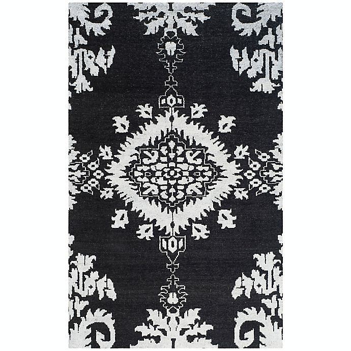 Alternate image 1 for Safavieh Stone Washed Kay 4' x 6' Hand-Knotted Area Rug in Charcoal