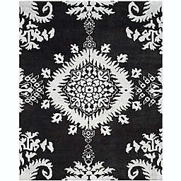 Safavieh Stone Washed Kay 9' x 12' Hand-Knotted Area Rug in Charcoal