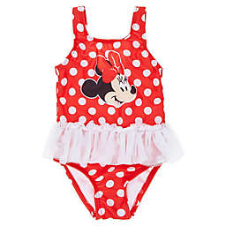Minnie Mouse Dot Tutu Swimsuit in Red