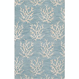Surya Escape Hand Tufted Rug in Aqua/Khaki