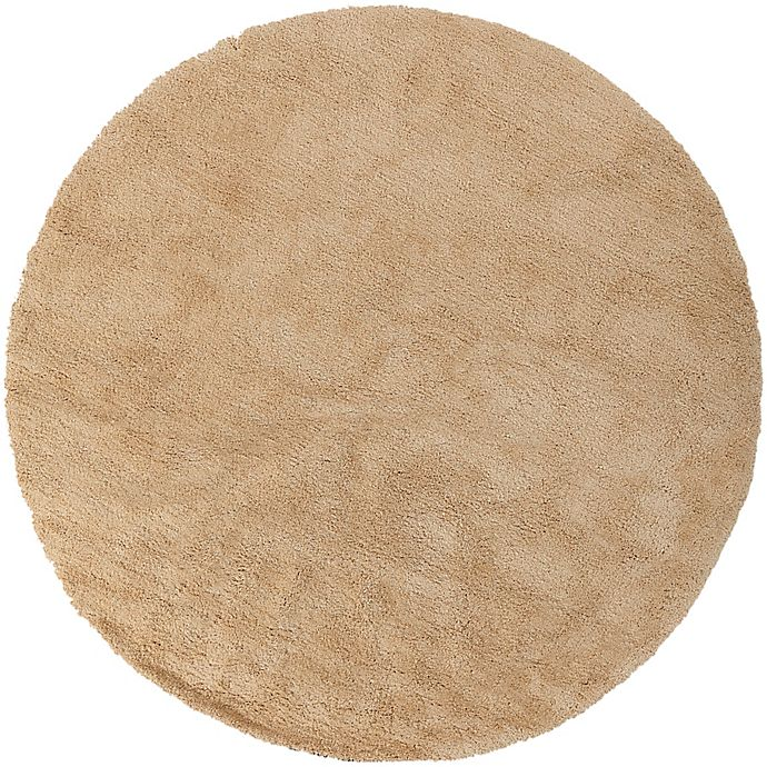 Alternate image 1 for Surya Heaven 8' Hand Knotted Shag Round Area Rug in Butter
