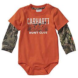 Carhartt® Mossy Oak® Long Sleeve Layered Camo Bodyshirt in Blaze Orange