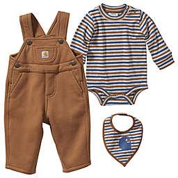 Carhartt® 3-Piece Overall Bodyshirt and Bib Set in Brown