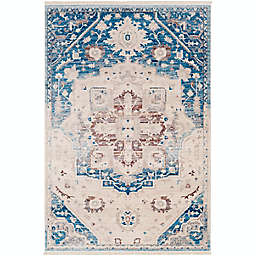 Surya Ephesians Medallion 2' x 3' Accent Rug in Blue/Red