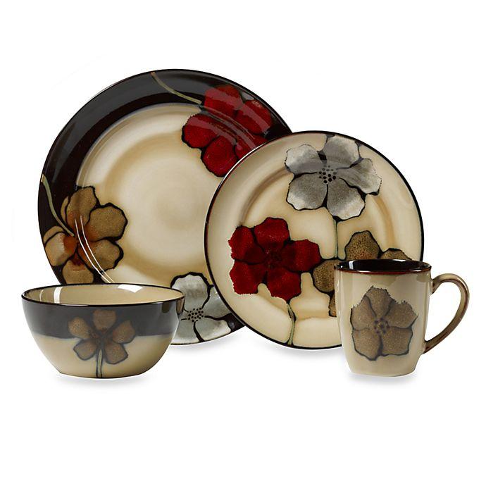 Alternate image 1 for Pfaltzgraff® Painted Poppies 16-Piece Dinnerware Set