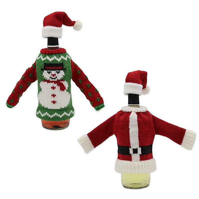 Alternate image 1 for Holiday Knit Hat and Sweater Bottle Topper Collection