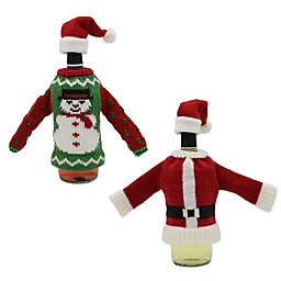 Holiday Knit Hat and Sweater Bottle Topper Collection