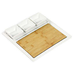 Denmark Artisanal 5-Piece Serving Tray in Off White