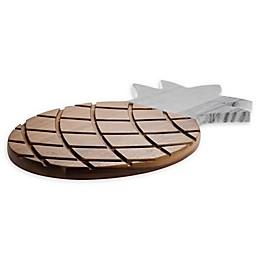 Denmark Artisanal 3D Pineapple Cutting Board in Marble/Wood