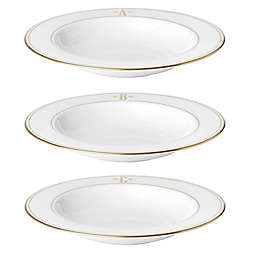 Lenox® Federal Gold™ Monogrammed Block Letter Rim Soup Bowl