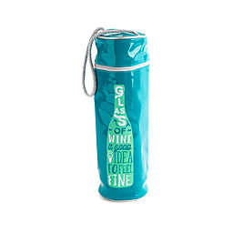 """Core Kitchen """"A Glass of Wine..."""" Insulated Wine Bag with Zipper"""