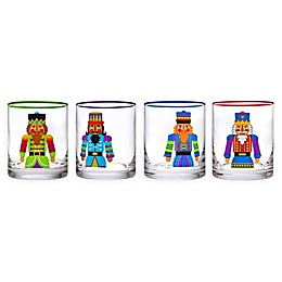 Godinger Nutcracker Double Old Fashioned Glasses (Set of 4)
