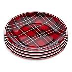 Godinger Plaid Appetizer Plates (Set of 4)