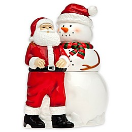 Godinger Santa and Snowman Cookie Jar