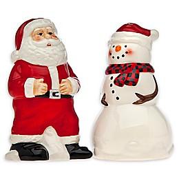 Godinger Santa and Snowman Salt and Pepper Shakers