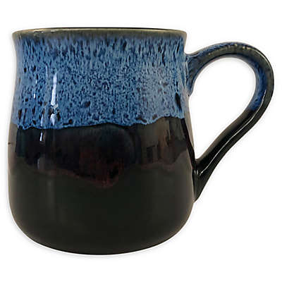 Boston Warehouse® Reactive Belly Mug in Navy Blue