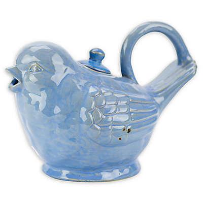 Stoneware 28 oz. Bird Tea Pot