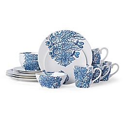 Pfaltzgraff® Arden 16-Piece Dinnerware Set in White/Blue