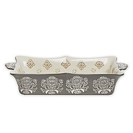 Baum Tapestry Rectangular Oven to Table Bake/Serve Dish Grey