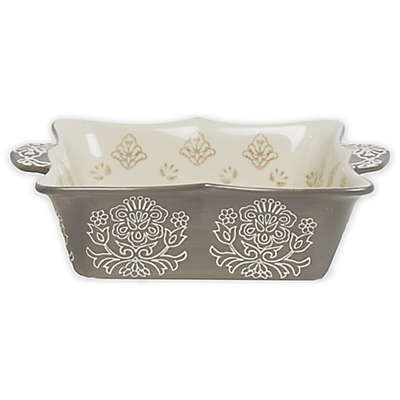 Baum Tapestry Square Oven to Table Bake/Serve Dish Grey